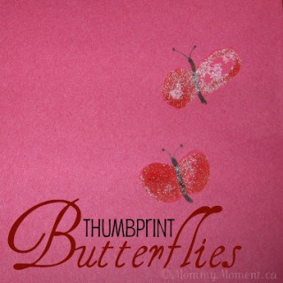 DIY ThumbPrint Butterflies