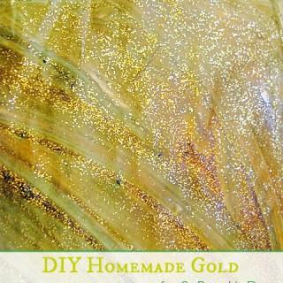 Butterflies and homemade GOLD