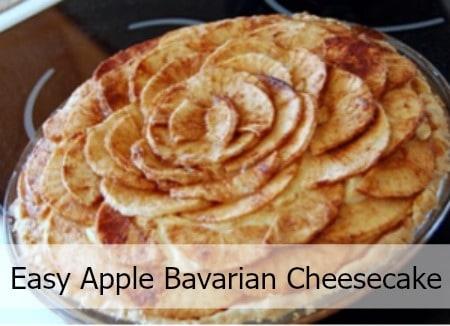 Apple Bavarian Cheesecake