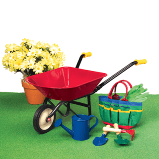 First Real Gardening Set for Kids!