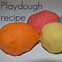 playdough recipe that is great for kids. This recipe is from a Montessori teacher