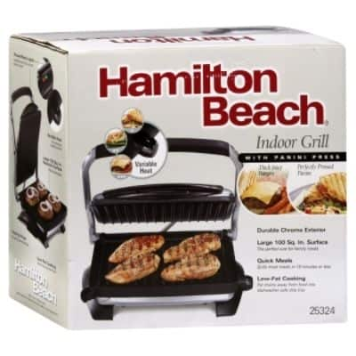 hamilton beach indoor grill with panini press 1 grill 0 mommy moment. Black Bedroom Furniture Sets. Home Design Ideas