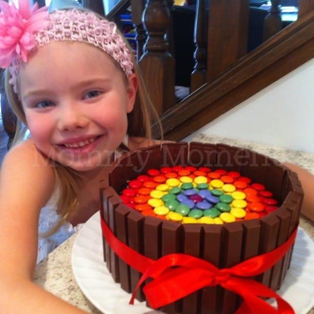 kitkat birthday cake