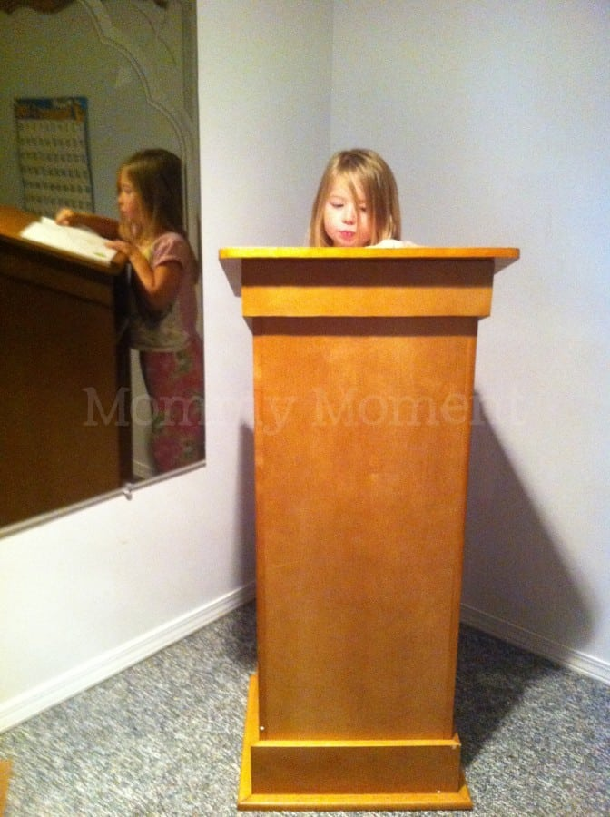 Guidecraft Little Lectern Chance To Win Arv 200 Mommy Moment