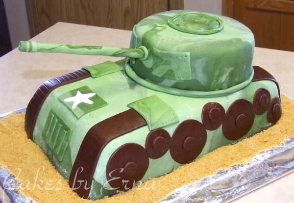 A Cake to Remember {Army Tank}