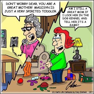 crazy mom, a carl's life cartoon : Mommy Moment