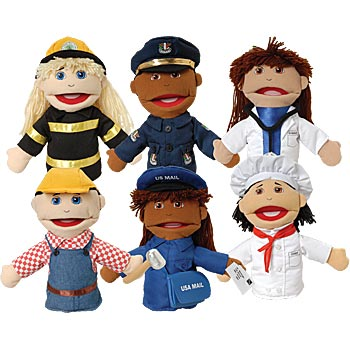 Multi-Ethnic Career Puppets #giveaway {ARV $87.99}