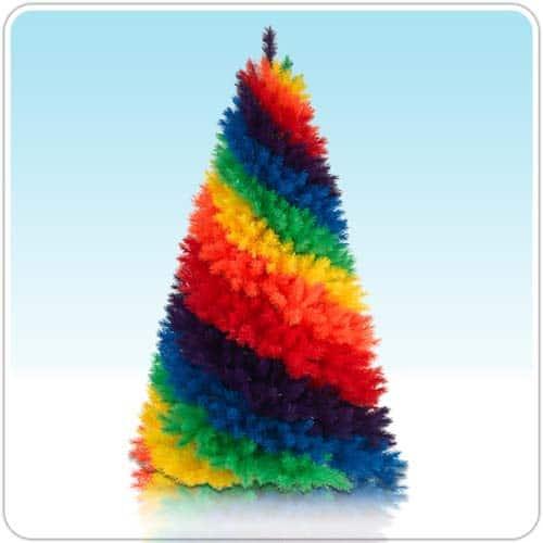 rainbow Christmas tree : Mommy Moment
