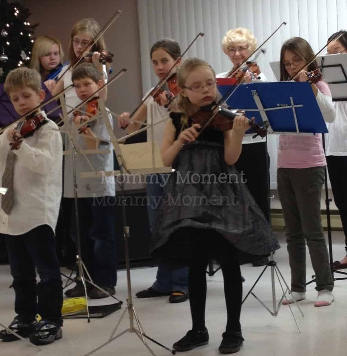 Children, violin & the elderly…a great Christmas combination