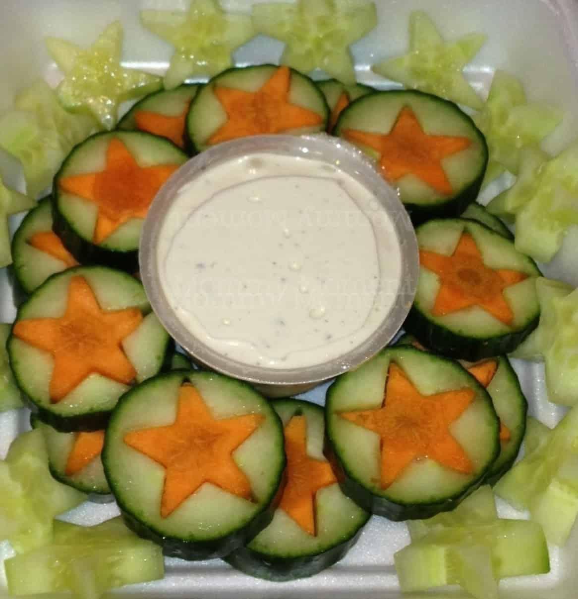 Veggie Stars Christmas Snack