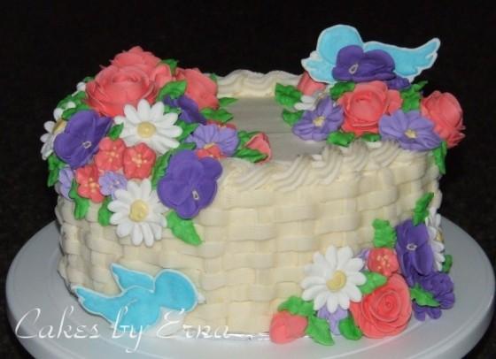 flower basket cake : Mommy Moment