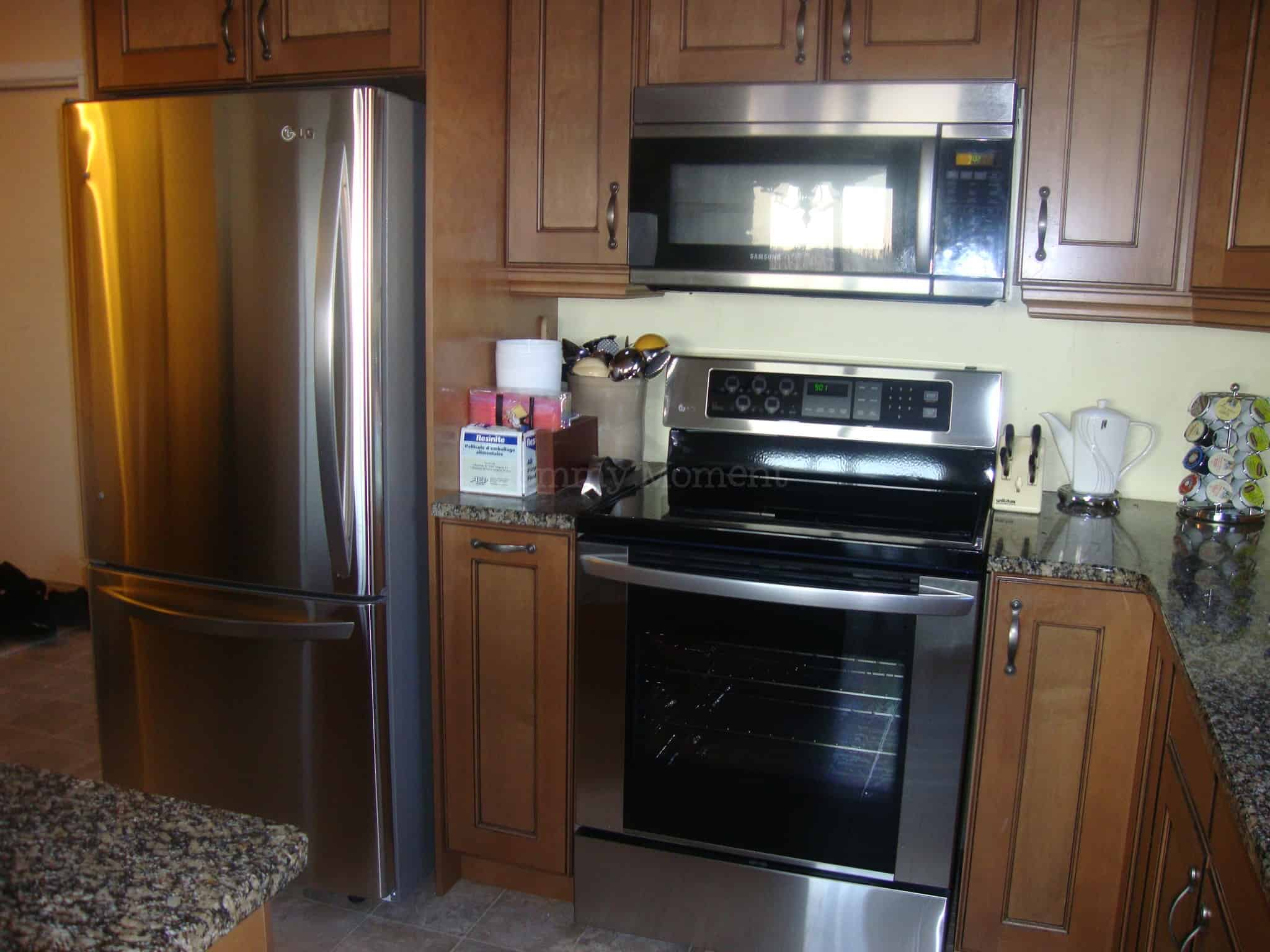 White vs Stainless Steel Appliances {with before & after photos}