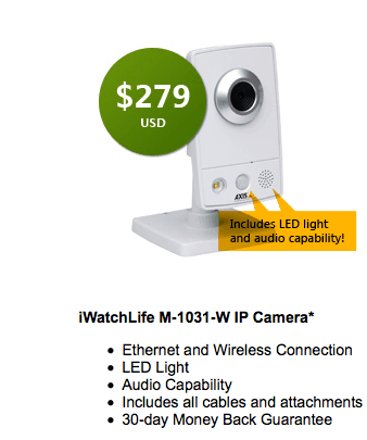 iWatchLife Smart Home Video Monitoring Camera #giveaway (arv $279)