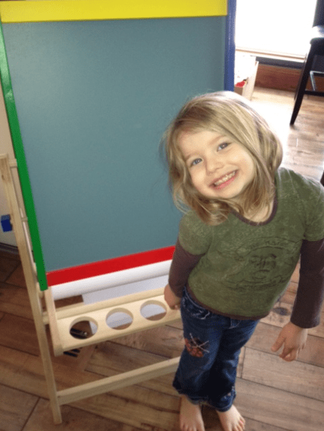 flipping easel : Mommy Moment