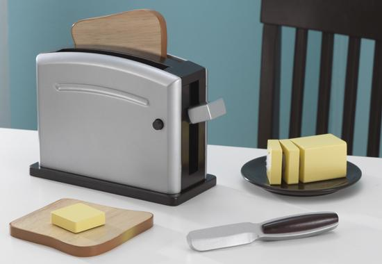 Wooden Espresso Baking and Toaster set for kids