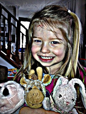 A girl and her stuffies #WordlessWednesday {with linky}