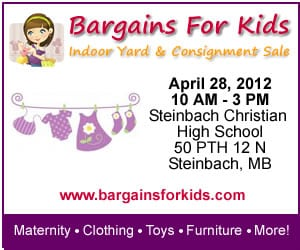Steinbach's BARGAINS FOR KIDS Indoor Yard & Consignment Sale will be here before you know it!