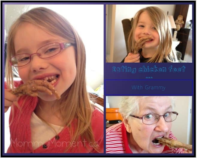 Eating Chicken Feet #WordlessWednesday {Linky}