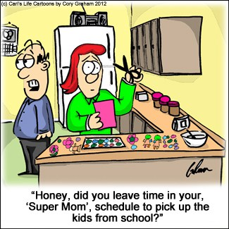 Crafty Mom Cartoon