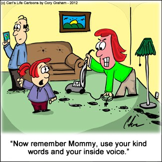 Mommy should use Kind Words too! #Cartoon
