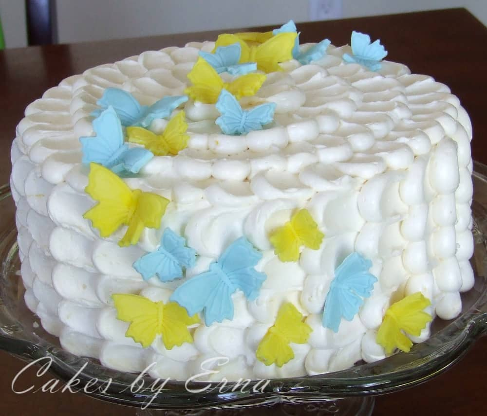 Beautiful Butterfly Petal Cake