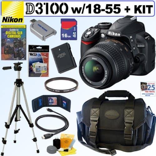 Nikon D3100 Digital SLR Camera Prize Pack #Giveaway