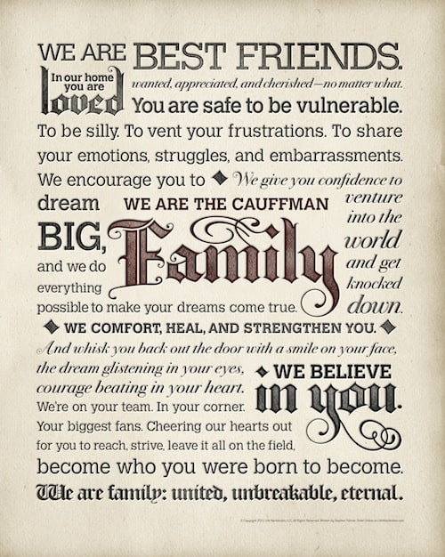 Personalized Family Poster from Life Manifestos #Giveaway