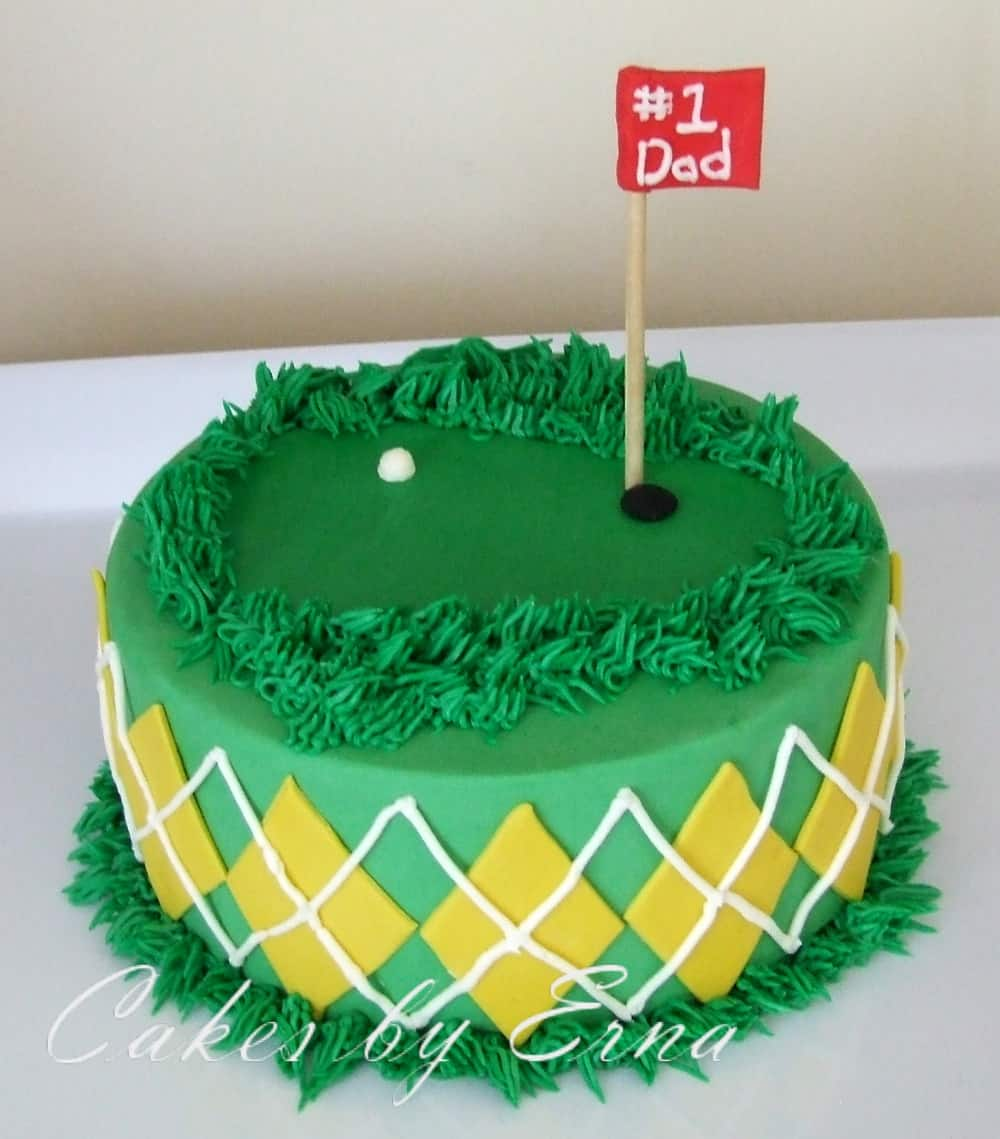 Happy Birthday Dad Golf Cake A golf themed cake is perfect
