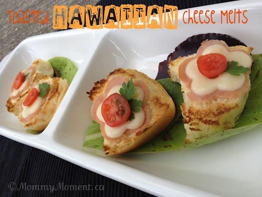 Toasted #KingsHawaiian Ham & Cheese Melts #recipe