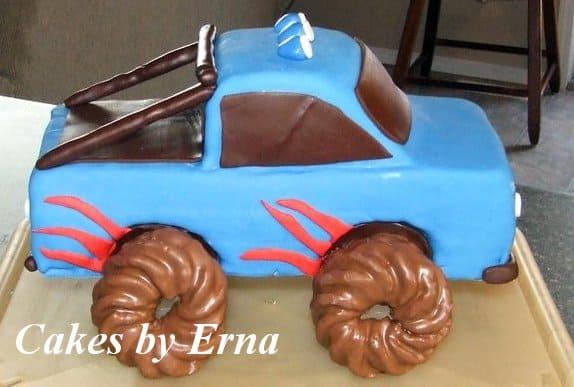 A TRUCK birthday cake