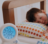 The Gro Clock helps kids stay in bed till the sun is up!