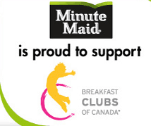Minute Maid and Breakfast Clubs of Canada provide breakfast for over 100,000 Canadian children
