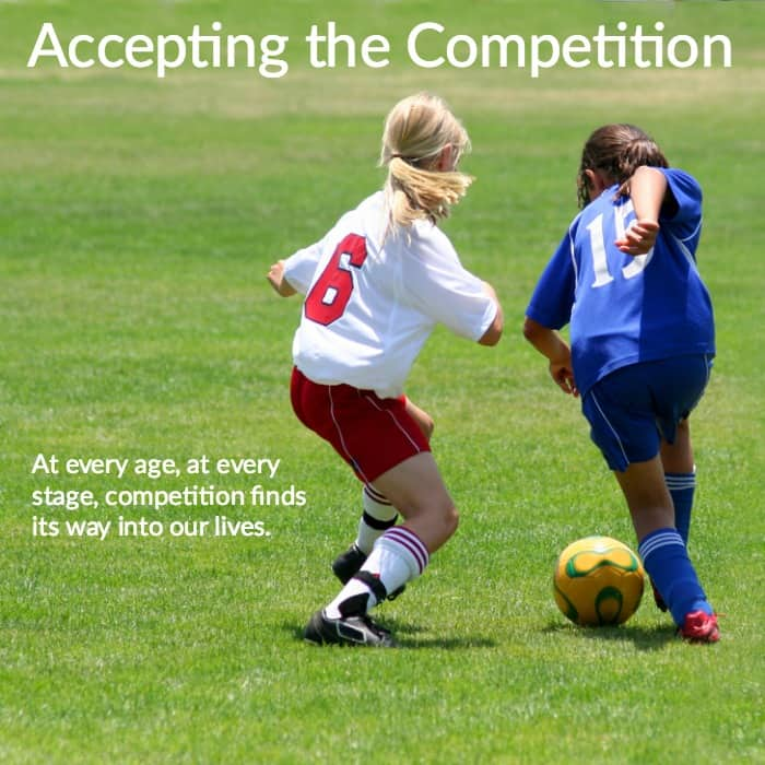 Competition will always exist.  At every age, at every stage, competition finds its way into our lives.    Why not make a loss a teachable moment and help your child learn to find the good in any given situation?