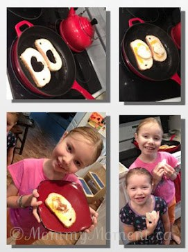 Hole Toast Hearts #WordlessWednesday with Linky!