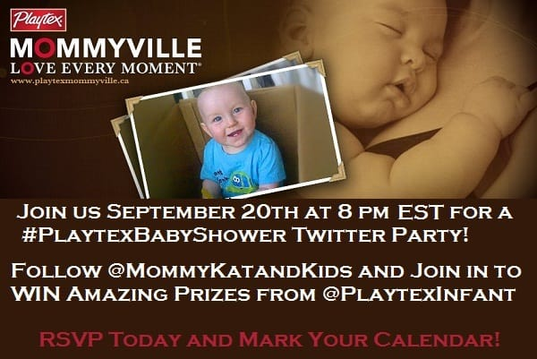 Join the 1st ever #PlaytexBabyShower Twitter Party! Thursday, September 20, 8pm-9pm EST