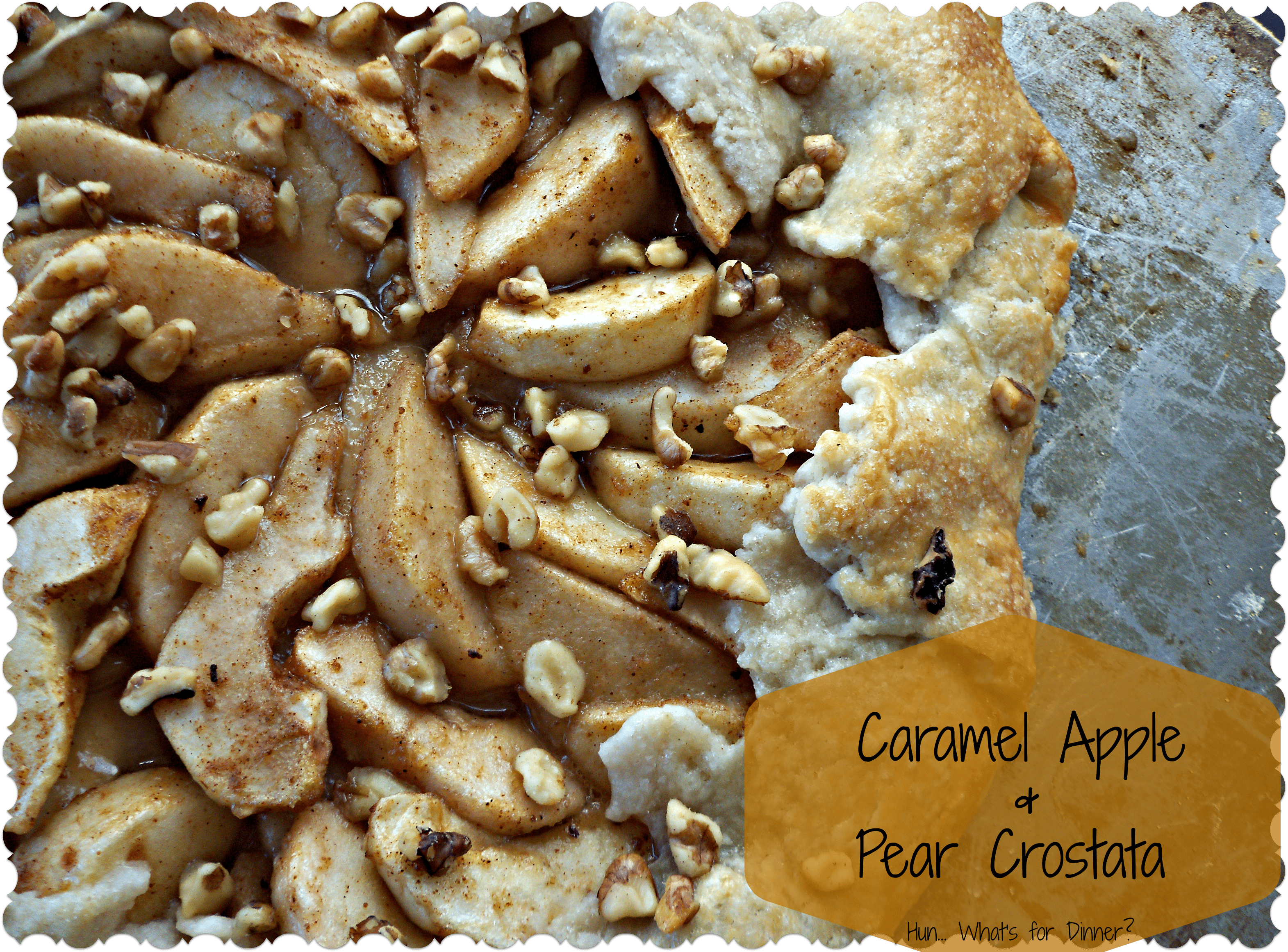 Caramel Apple and Pear Crostata #recipe