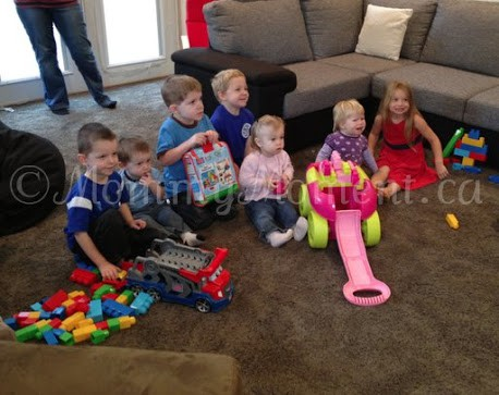 Fun & Friends at our Mega Bloks® First Builders™ Party! #Megabloksparty