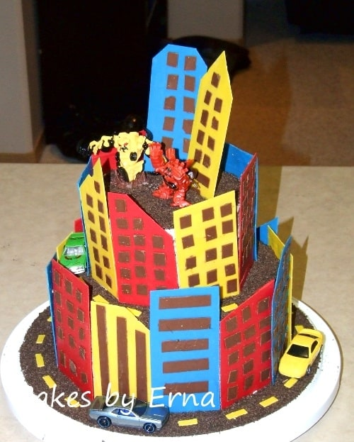 A Robot City Birthday Cake!