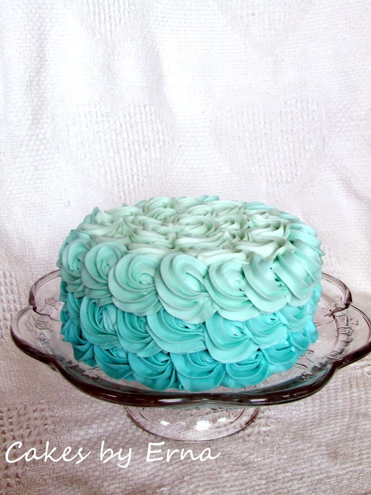Simply Beautiful Ombre Rose Cake