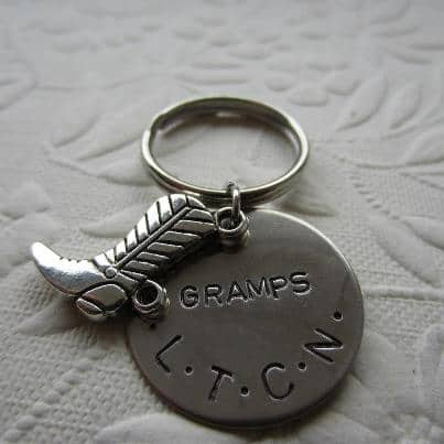 hand stamped key chain