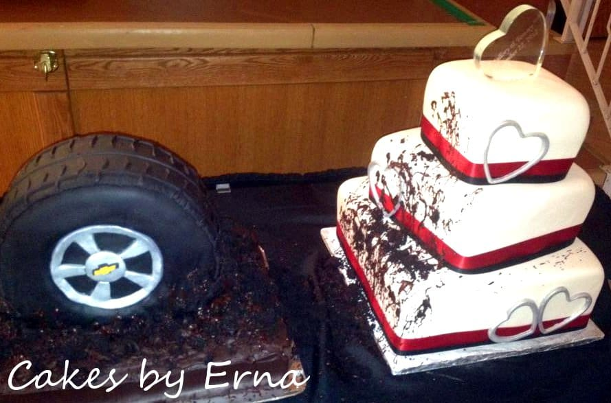 Wild Wedding Cake #CakesbyErna