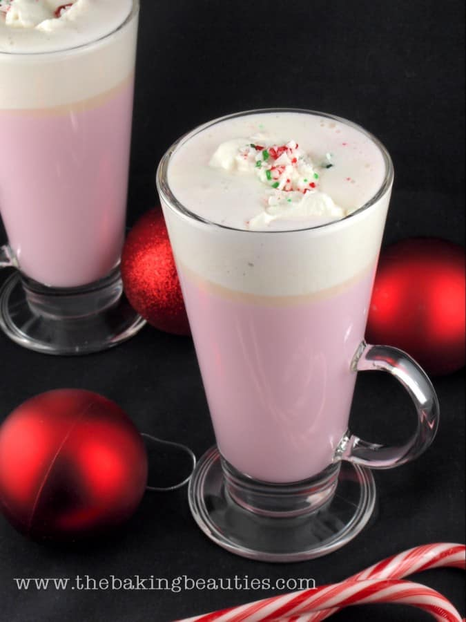 Candy Cane White Hot Chocolate | Non-Alcoholic Holiday Drink Recipes For All To Enjoy