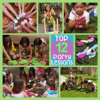 Top 12 Birthday Party Lessons