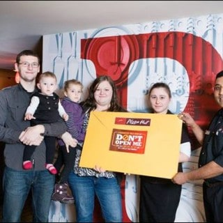 Steinbach resident Katharina Neufeld and her family have been named the grand prize winners of the Pizza Hut Don't Open Me challenge! #Giveaway