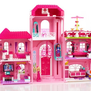 Barbie Mega Bloks Build 'n Style Luxury Mansion, Pet Shop & Ice Cream Cart