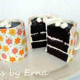 A Mug of Hot Chocolate Cake! (Eat the Mug & All) #CakesbyErna