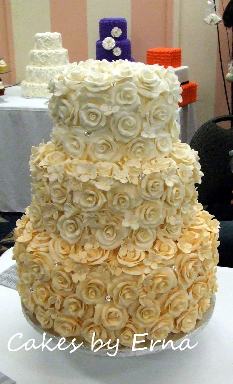 Rose Cake The Perfect Wedding Cake Cakesbyerna
