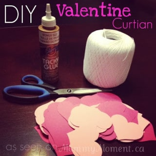 DIY Heart Curtain