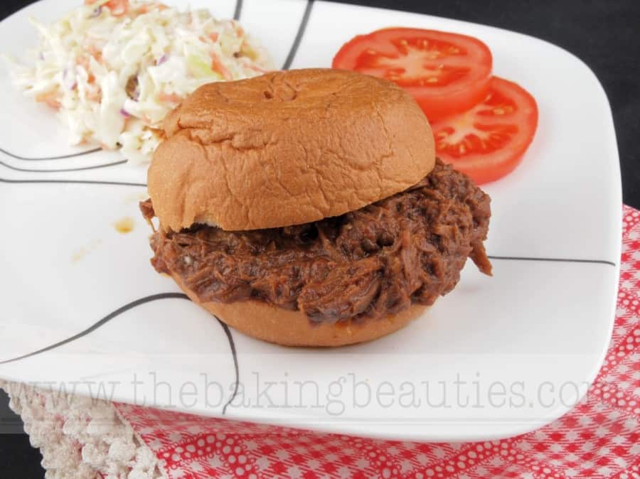 Slow Cooker Barbecue Pulled Beef