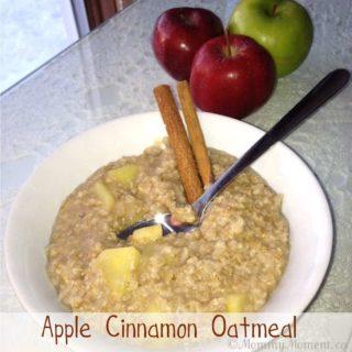 Apple Cinnamon Oatmeal #recipe